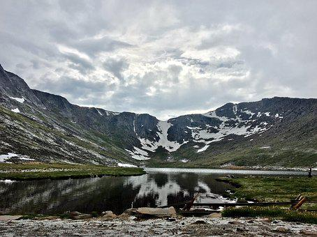 Mount Evans, Colorado, Mountain, Lake, Summit Lake Park