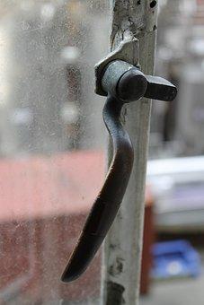 Window, Latch, Factory, Old