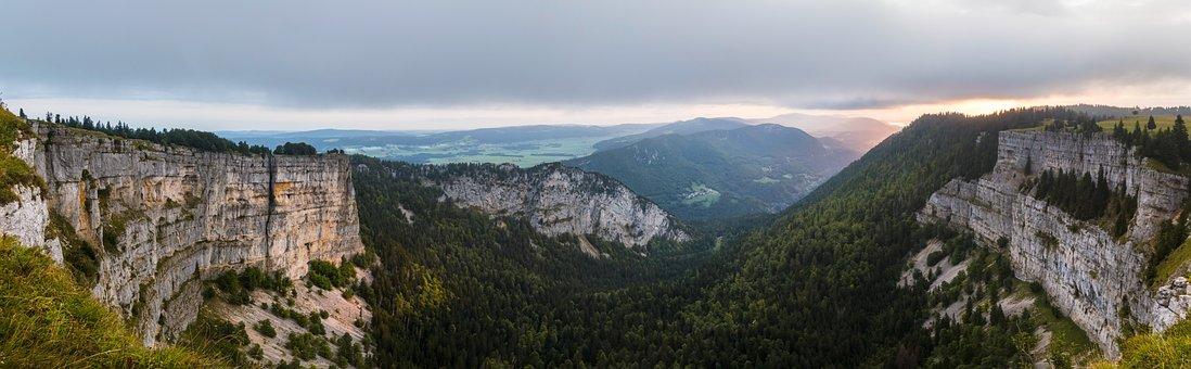 Creux Du Van, Canyon, Rock Boiler, Sunrise, Mountains
