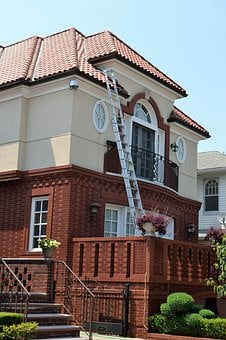 Home, Ladder, Roofing, House, Improvement, Renovation
