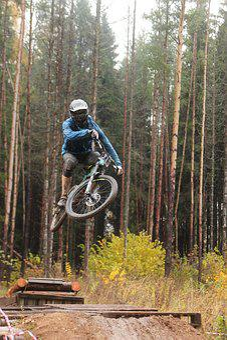 Sports, Bike, Mountain Bike, Extreme, Brake, Cyclist