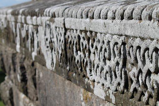 Celtic, Border, Old, Stone, Wall, Gray Border