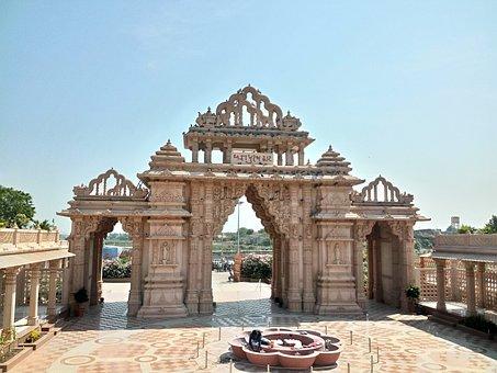 Temple, Background, Gate, Beautiful, Nature, Sun, Day
