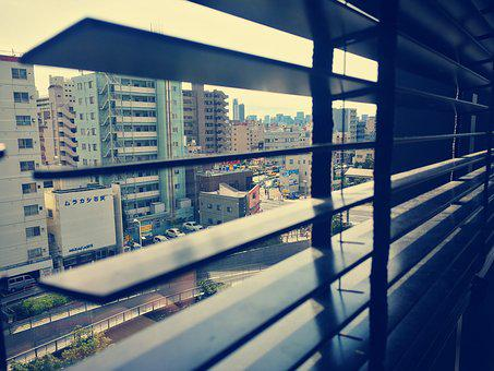 View, Blinds, Japan, Window, Road, Outlook, Auto, Tokyo