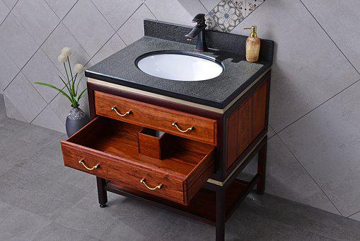 Bluestone, Redwood, Bathroom Cabinet, Chinese Style