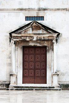 Wooden, Old Doors, Door, History, Zadar, Croatia