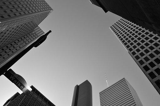 Buildings, Design, Shape, Corporate, Downtown Houston