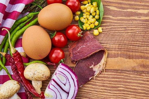 Bacon, Egg, Mushroom, Onion, Egypt, Tomato, Beautiful