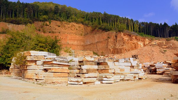 Marble, Stone, Quarry, Forest, Mountain, Shipyard