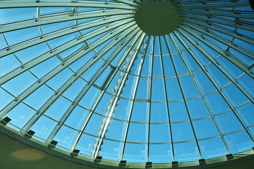 Roof, Dome, Domed Roof, Metal, Glass, Shine