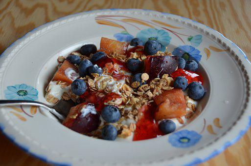 Muesli, Blueberries, Healthy, Vital, Breakfast, Iceland