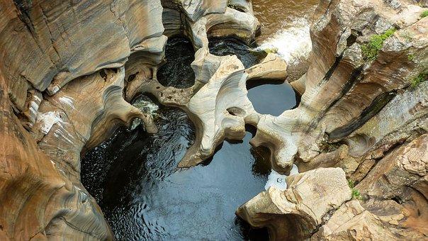 Water, Nature, Rock, Blue, Summer, Fresh, Natural