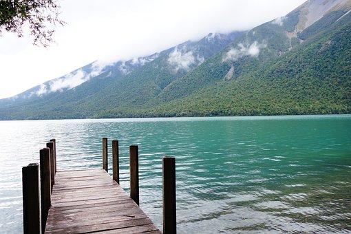 Nz, New Zealand, Brine, Blue, Water Surface
