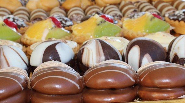 Sweet, Chocolate, Food, Dessert, Orange, Kiwi