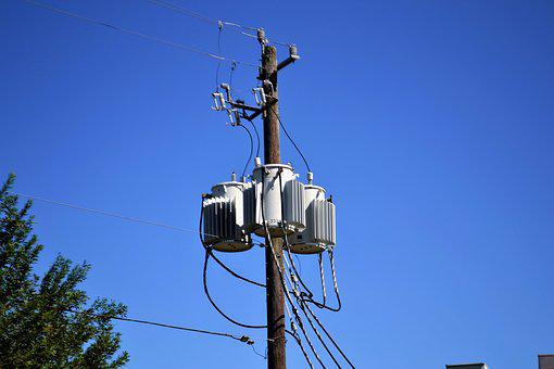 Electricity, Converter, Power, Grid, Poll, Wooden
