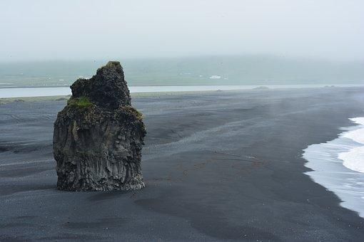 Iceland, Sea, Beach, Stone, Summer, Rock, See