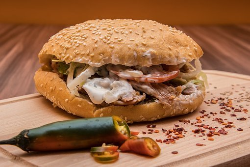 Doner Kebab, Kebap, Turkish Specialty, Tomatoes, Salad