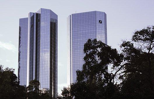 Frankfurt, Skyline, Architecture, Skyscrapers