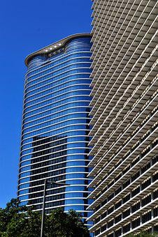 Office Buildings, Houston, Texas, Downtown, Usa