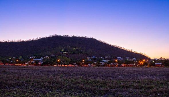 Hill, Sunset, Mt Louisa, Night Photo, Townsville Area