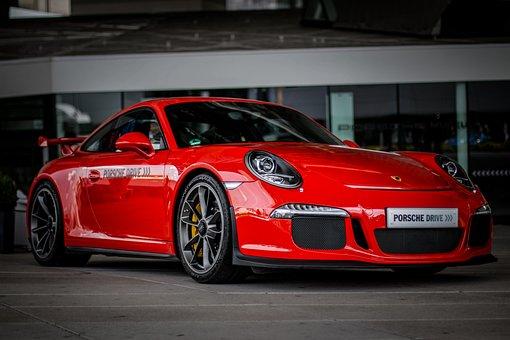 Porsche 911 Gt3, 991, 1, Car, Auto, Red, Vehicle