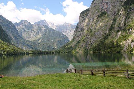 Upper Lake, Germany, Bavaria, Bergsee, Holiday