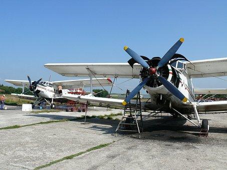 Bulgaria, Airport, Agricultural Aircraft, Biplane