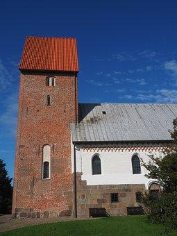 Church, Steeple, Brick Church, Church Of St Severin