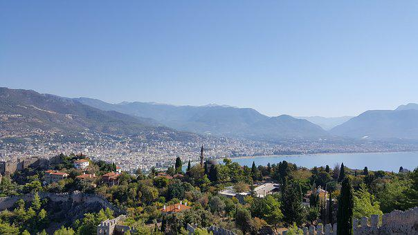 Alanya, Turkey, Castle, Fortress, Sea, Holiday
