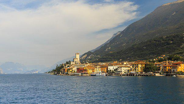Malcesine, Garda, Holiday, Castle, Cliffs, Landscape