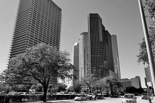 Downtown Houston, Texas, Corporate, Buildings, Tall