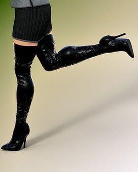Leather, Legs, Boots, Woman, Rock, Femininity, Erotic