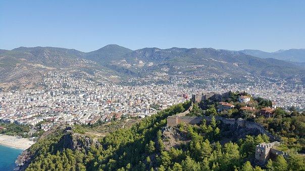 Alanya, Turkey, Castle, Fortress, Sea, Holiday
