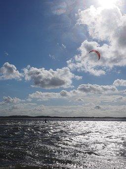 Kite Surfing, Kitesurfer, Kiteboarding