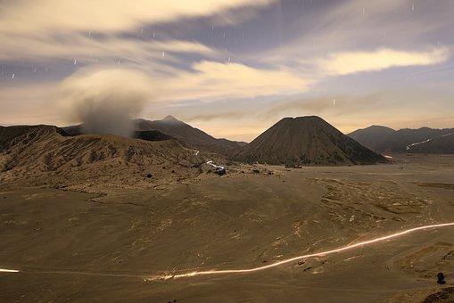 Mountain, Smoke, Misty, Landscaping, Bromo, Mount