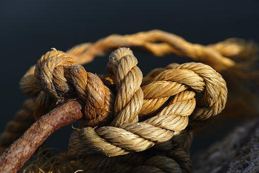 Rope, Connect, Old, Macro, Node, Close, Detail Shots