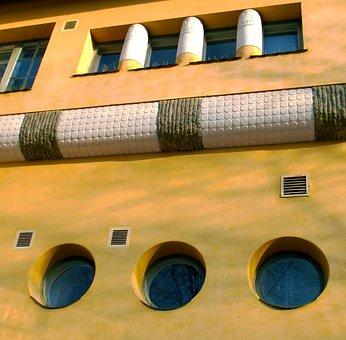 Building, Facade, Decoration, Old, Windows, Finnish