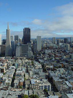 San Francisco, Skyline, City, Downtown, Tower