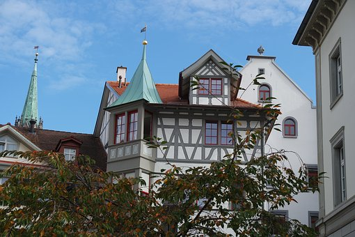 St Gallen, Old Town, Timber Framed Houses