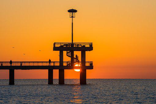 Sunrise Over The Bridge, Sunrise, Bridge, Burgas