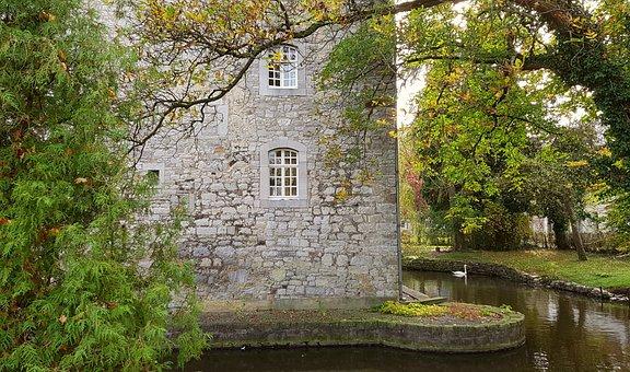 Castle, Wasserburg, Swan, Animal, Architecture, Masonry