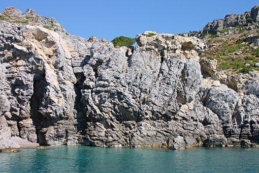 Bay, Sea, Afandou, Greece, Rhodes, Rock, Rocky, Water
