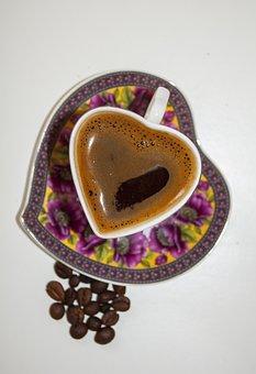 Coffee, Beans, Drink, Caffeine, Black, Cafe, Brown, Mug