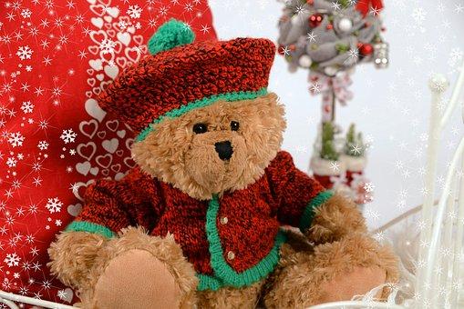 Teddy Bear, Plush, Plush Mascot, Cuddly, The Mascot