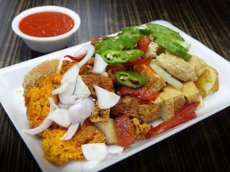 Indian Rojak, Food, Flour, Sauce, Fried, Dough, Spices