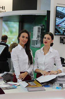 Exhibition, Stand Models, Stendistki, Girl, Girls