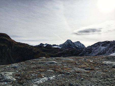 Mountains, Graubünden, Engadin, Pontresina, Hiking