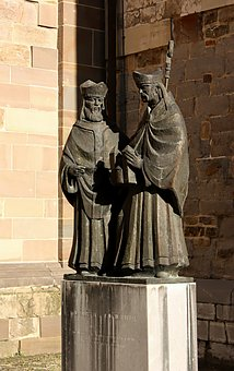 Ikon, Bishop, Religion, Holy, Maastricht, Monulphus