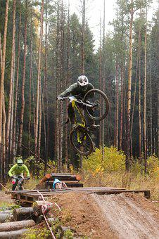Sports, Bike, Race, Jump, Mountain Bike, Extreme, Brake