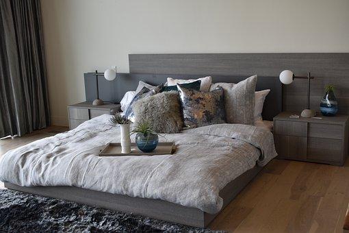 Bed, Interior Design, Bedroom, Home, Furniture, Modern